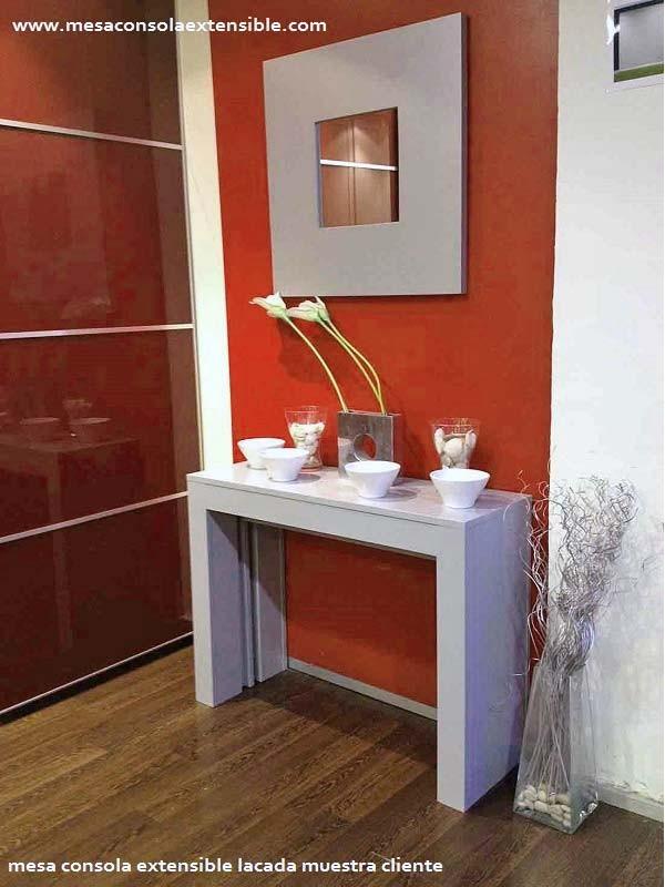 Mesas consolas consola moderna mesas consolas detras for Mesa consola extensible ikea