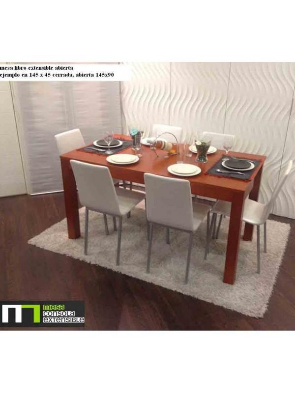 Mesa abatible de libro para cocina o comedor en madera de - Mesa libro comedor ...