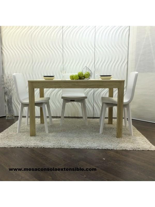 Mesa abatible de libro para cocina o comedor en madera de haya blanca - Mesas libro de comedor ...