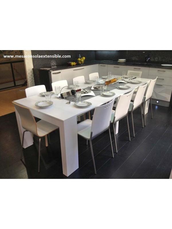 Mesa consola extensible en mesa de comedor multifuncion for Mesa consola extensible