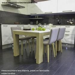 Table salle à manger extensible 3.6 de style scandinave