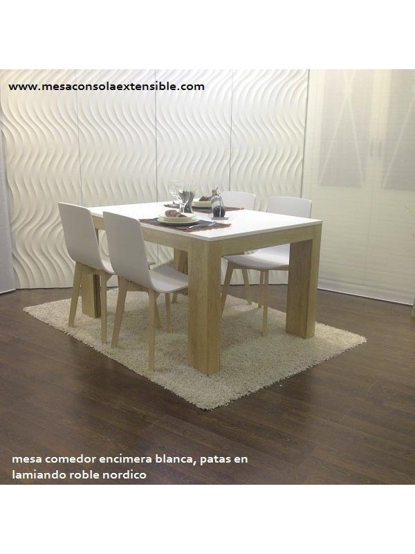 mesa comedor extensible estilo nordico a medida extensible