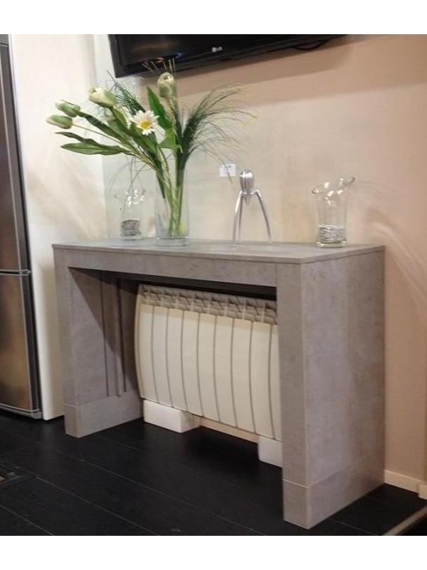 Calces para mesa consola extensible para radiador en blanco madera - Mueble para encima del inodoro ...