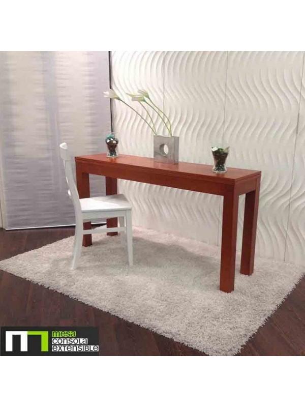 Mesa abatible de libro para cocina o comedor en madera de haya blanca