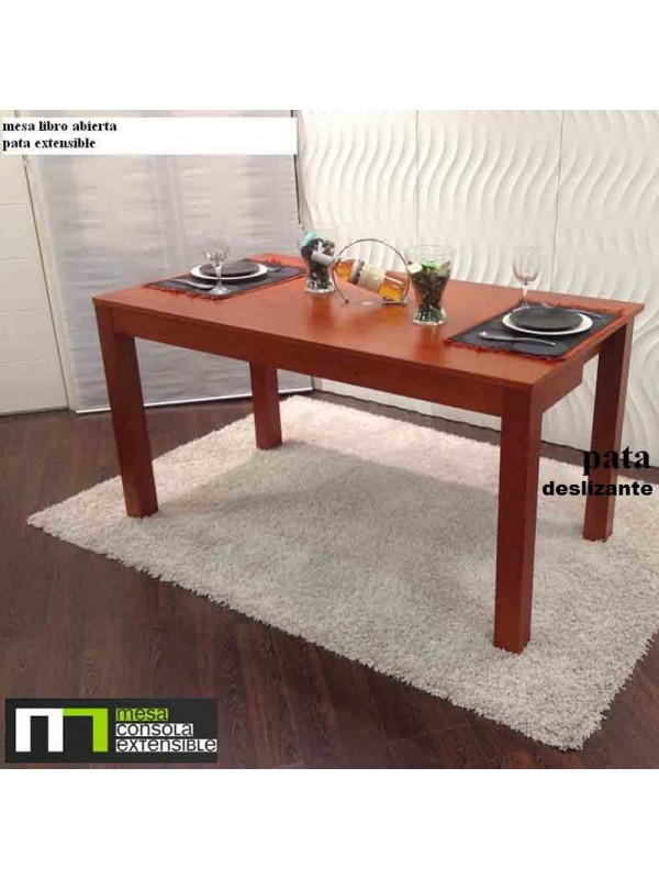 Mesa abatible de libro para cocina o comedor en madera de - Mesas libro de comedor ...