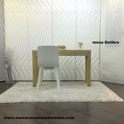 Mesa De Libro extensible en madera o laca para comedor