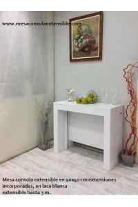 Extensibles incorporados 100 x 40 laca blanca extensible 2,90 m