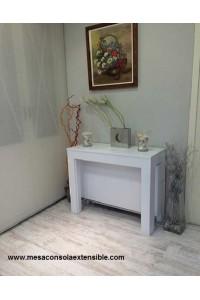 mesa consola blanca moderna