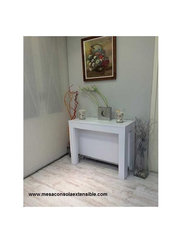 Table console extensible avec pi tement pivotant jusqu 39 3 for Table extensible 3 metres