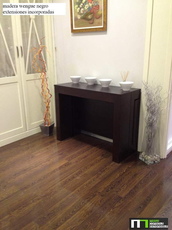 mesa consola extensible en mesa de comedor multifuncion incorporados