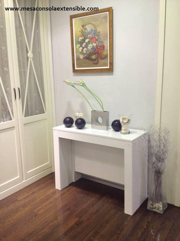Mesa consola extensible en mesa de comedor multifuncion for Mesa consola extensible ikea