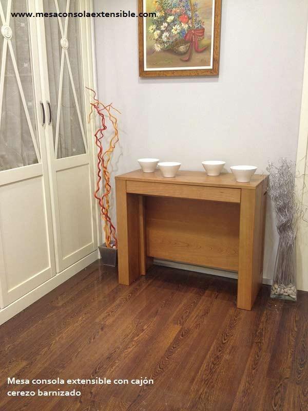 table console extensible avec tiroir et troite 35 cm de fond blanc. Black Bedroom Furniture Sets. Home Design Ideas