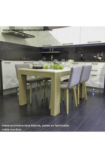 Mesa comedor extensible 3.6 de estilo nordico